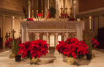 The Chapel Altar at Christmastime.