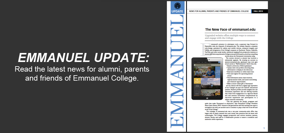 Read the Fall 2013 Edition of Emmanuel Update
