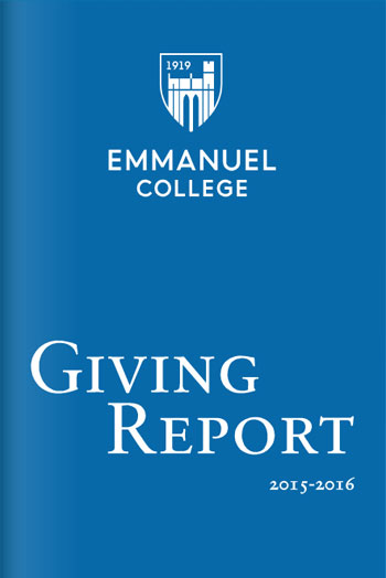 2015-16 Emmanuel College Giving Report