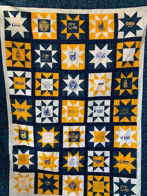 Handmade quilt by Andrea Ryan '66