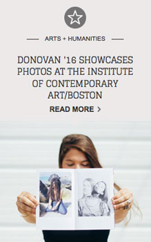 Donovan '16 Showcases Photos at the Institute of Contemporary Art/Boston